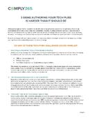 3 Signs Authoring Your Tech Pubs is Harder Than It Should Be