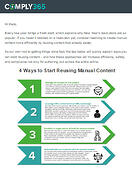 4 ways to reuse manual content - email