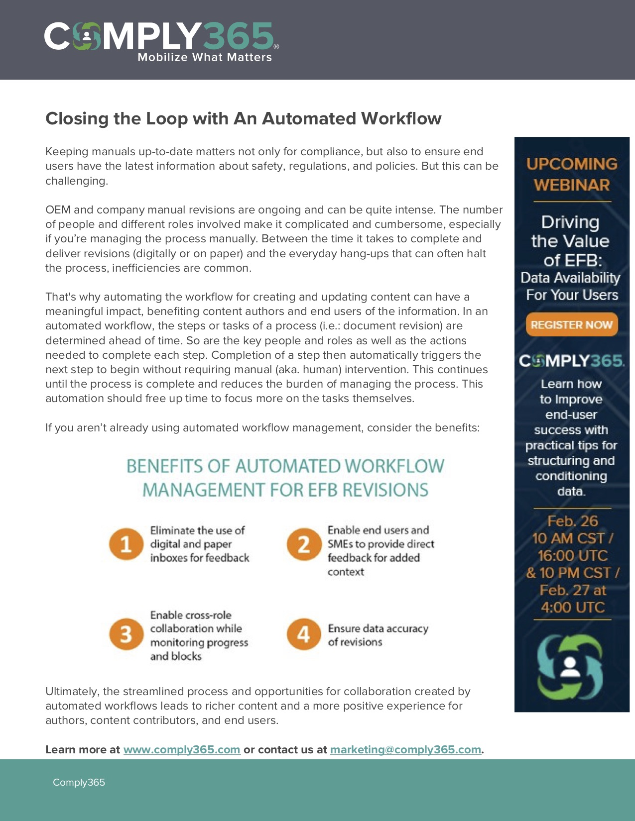 Closing the Loop with an Automated Workflow